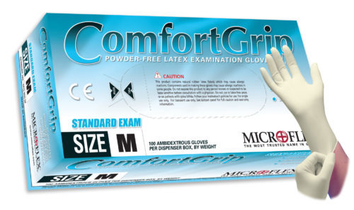 Microflex ComfortGrip CFG-900 powder free latex exam glove