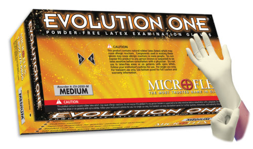 Microflex Evolution One EV-2050 powder free latex exam glove