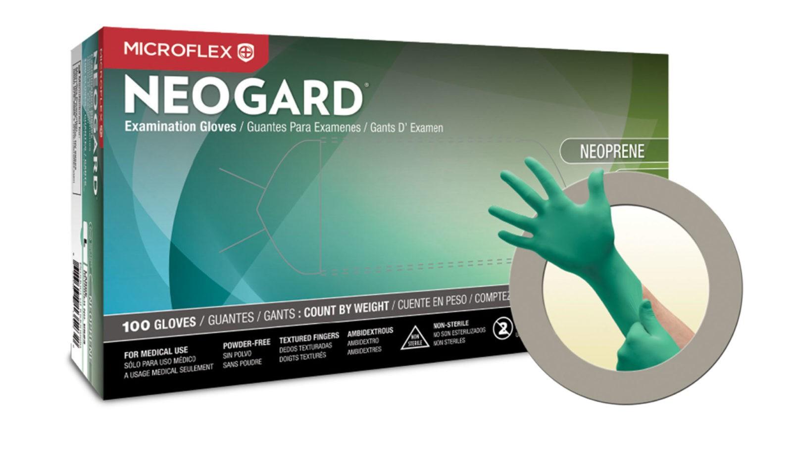 Black nitrile gloves xs - Microflex Neogard C52x Powder Free Chloroprene Exam Glove