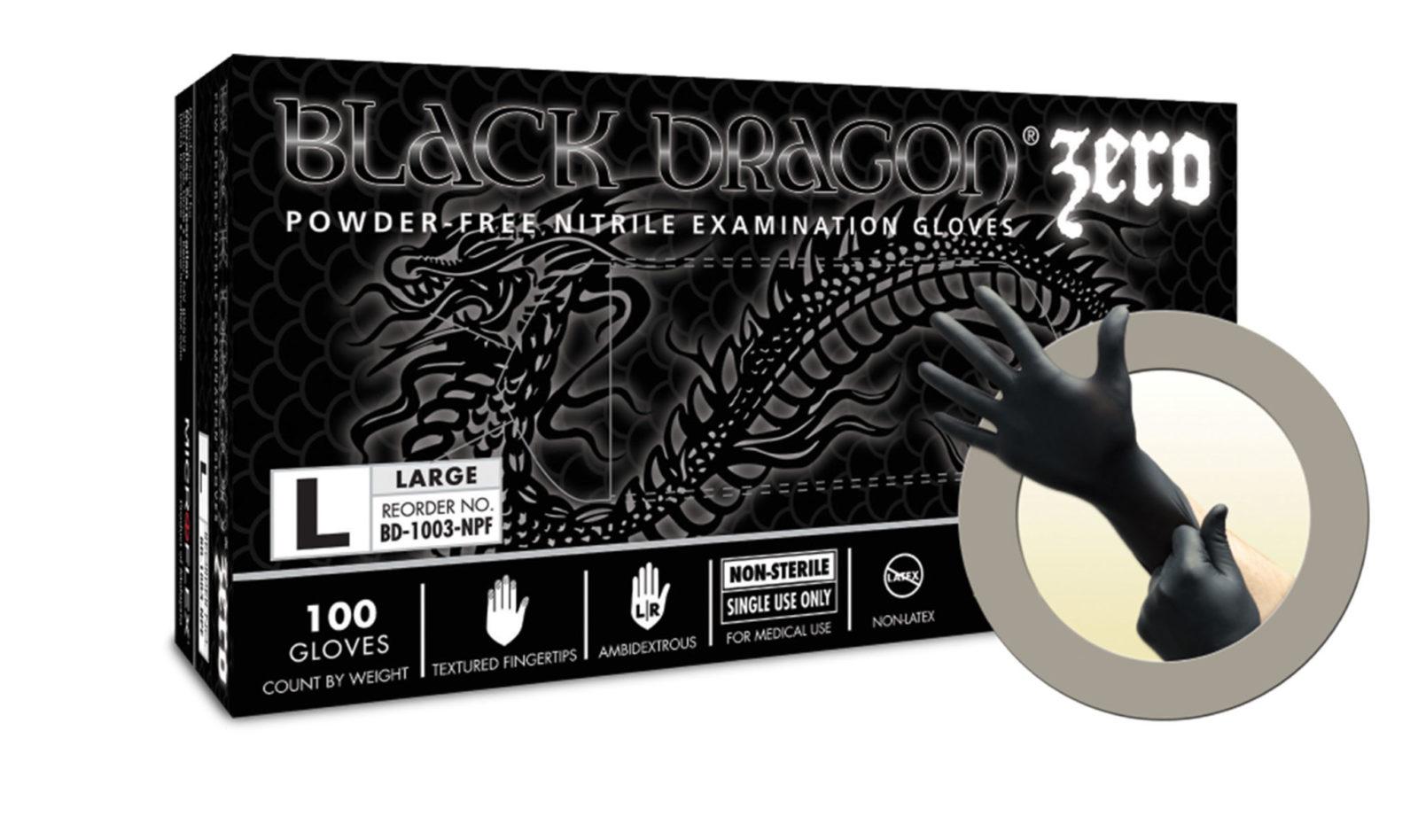 Black latex gloves xl - Microflex Black Dragon Zero Nitrile Gloves