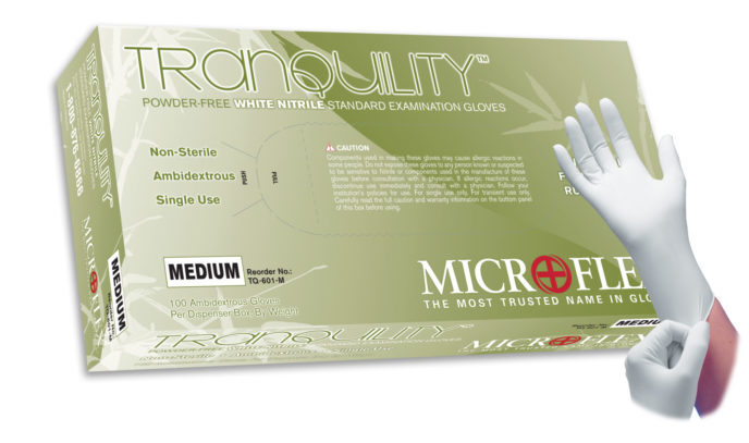 Microflex Tranquility TQ-601 powder free nitrile exam glove
