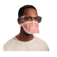 Halyard FluidShield N95 Respirator & Surgical Face Masks - 46727-fluidshield-pfr95-particulate-filter-respirator-surgical-mask-poly-headband-reg-orange-210cs