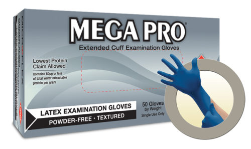 Microflex Mega Pro L85 Powder Free Latex Exam Glove