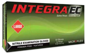 Microflex Integra EC N87 Powder Free Nitrile Exam Glove - n871-pf-s-integra-ec-powder-free-nitrile-exam-glove-50-pc-500-cs