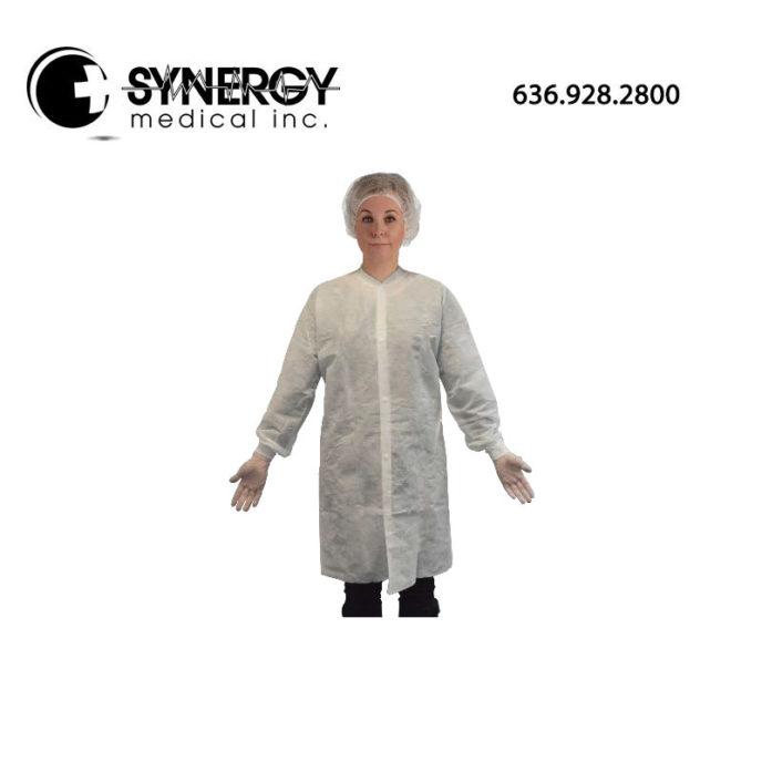 Amd-Ritmed A8042 Disposable Unisex Laboratory Coat Medium