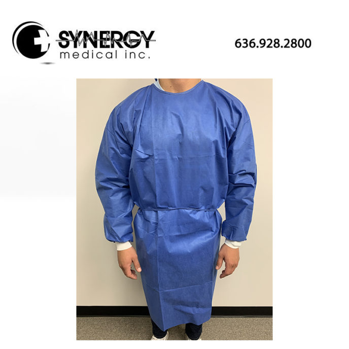 Isolation Gown SMS 45 GSM with Knit Cuffs 100 per case